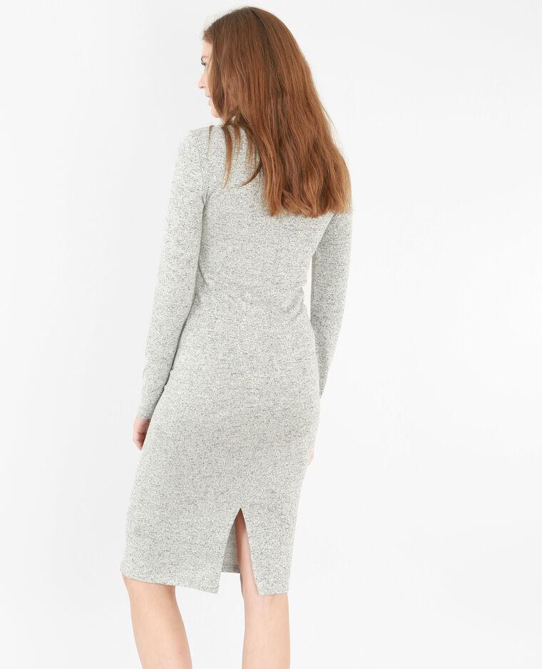 Langes Pulloverkleid Grau meliert