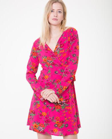 Robe portefeuille rose fushia