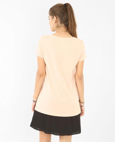 Vestido plisado en la parte inferior rosa