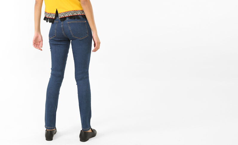 Jeggings basic blu scuro