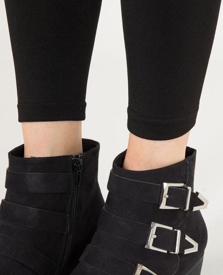 Leggings con fodera in pile nero