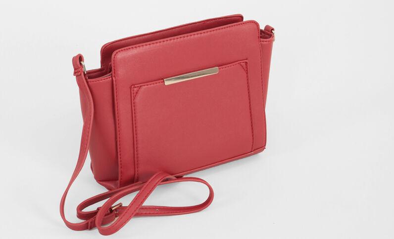 Petit sac trapèze rouge