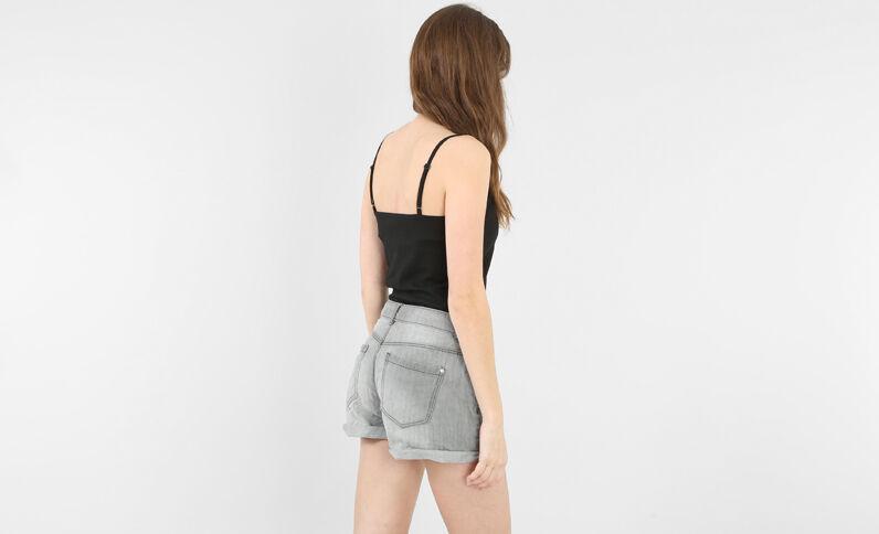 Camiseta de tirantes de algodón negro
