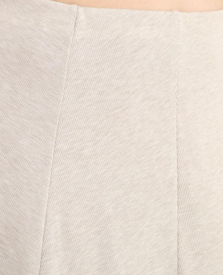 Skaterrok met fijne ribbels gebroken wit