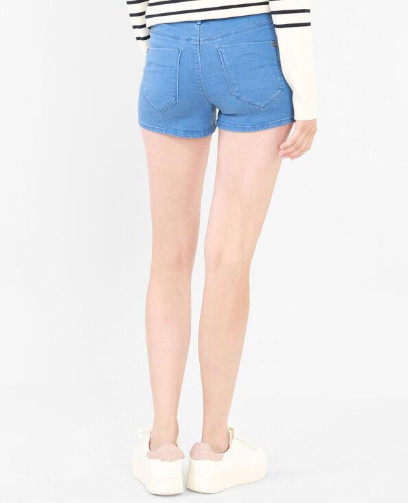 Micro-short taille haute bleu ciel