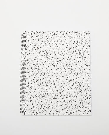 Grand notebook à spirales tâcheté écru