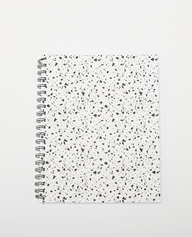 Grande block-notes con spirale e macchie écru