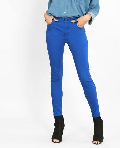 Push-up skinny elektrisch blauw