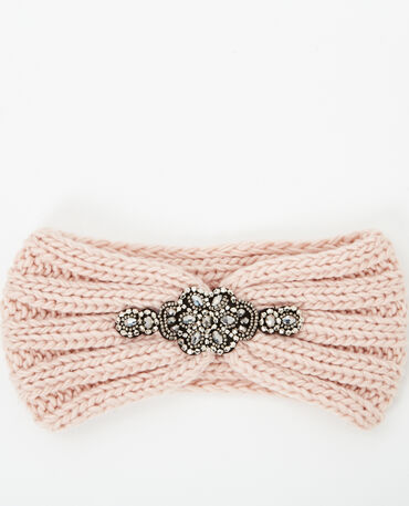 Headband à bijoux rose