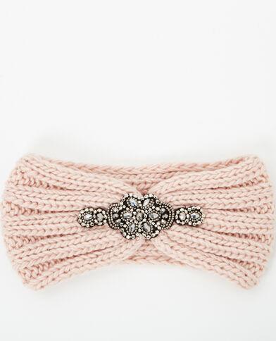 Stirnband mit Schmuckverzierung Rosa