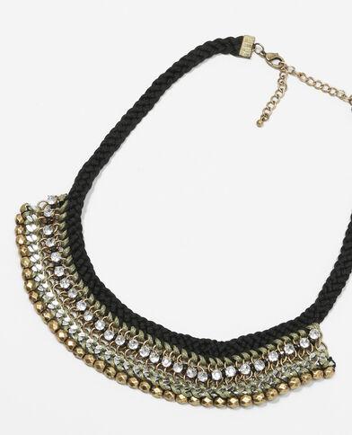 Collana multifili nero