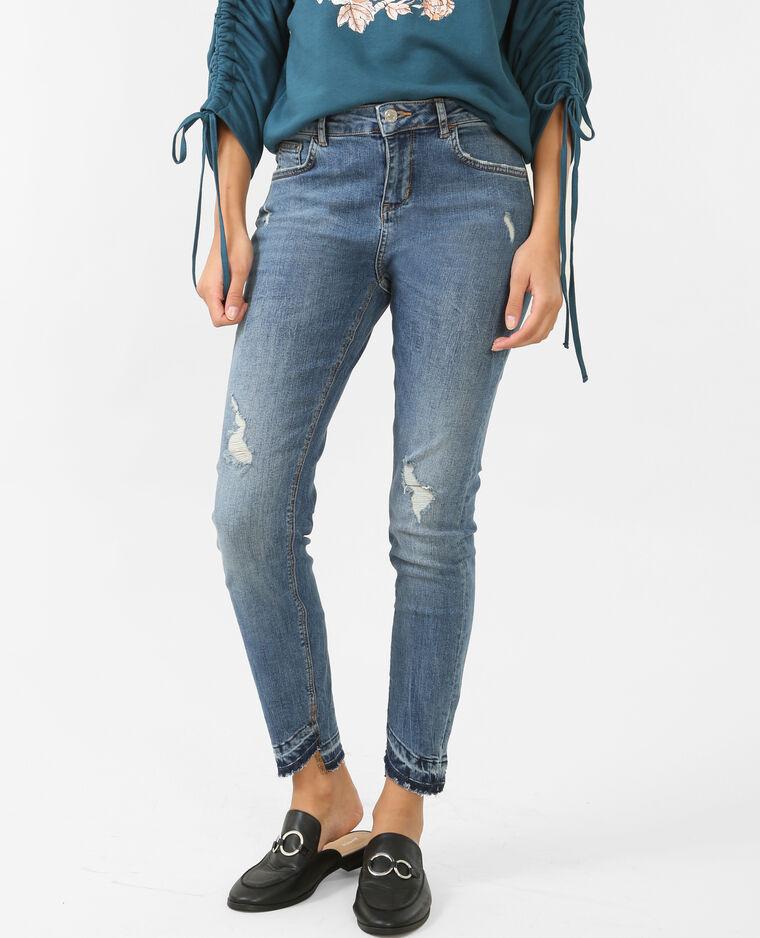 Jeans skinny de tiro medio azul