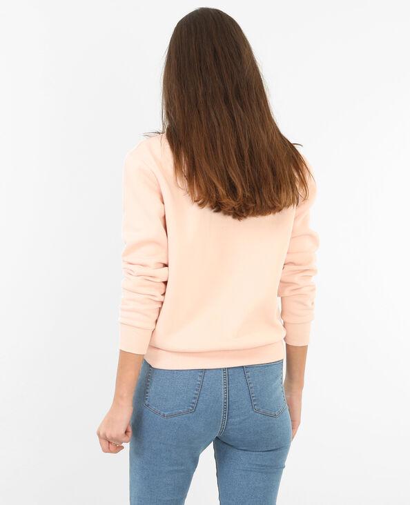Sweatshirt mit Schriftzug Rosa