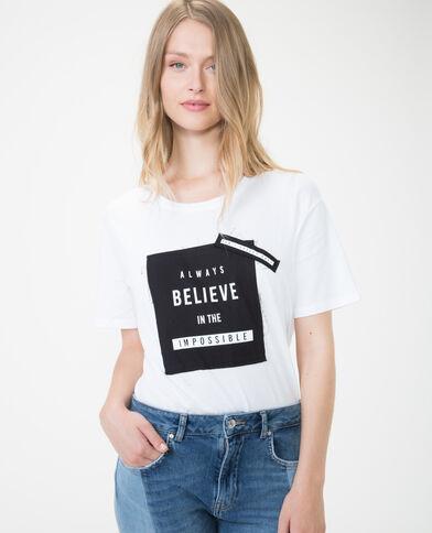 T-shirt imprimé à nouer écru