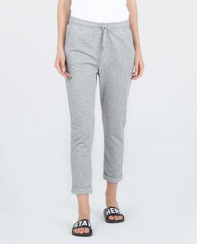 Homewear joggingbroek gemêleerd grijs