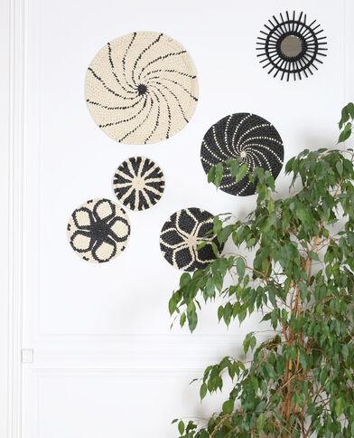 Kleiner Wandkorb aus Papierseil Altweiß