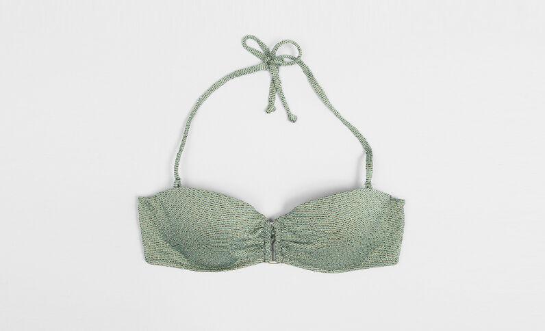 Haut de maillot de bain lurex vert