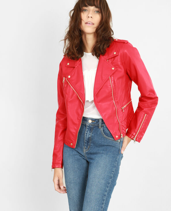 Chaqueta biker rojo