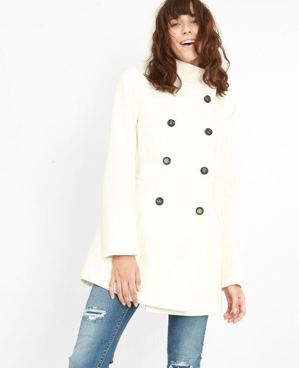 Mantel mit doppelter Knopfreihe Hellbeige