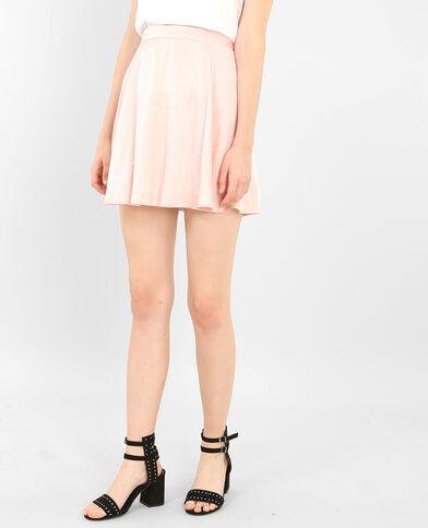 Mini jupe satinée rose