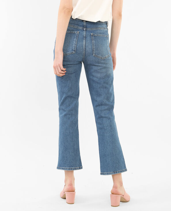 Jeans rectos tobilleros azul vaquero