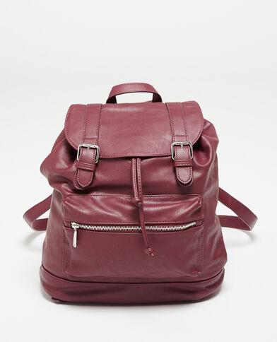 Rucksack aus Kunstleder Granatrot