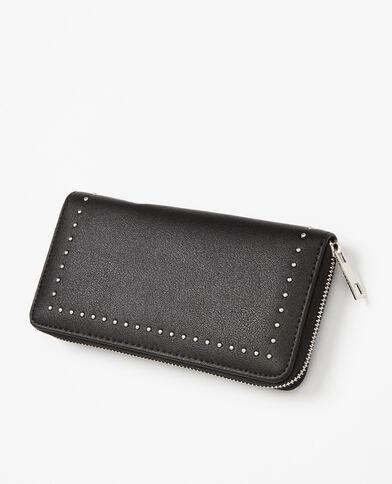 Portafoglio compagnon con le borchie nero