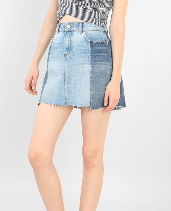 Minifalda bicolor azul