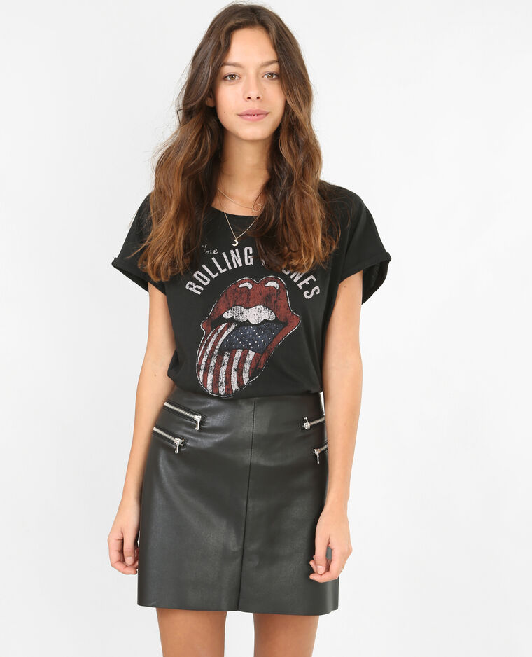 T-shirt Rolling Stones gris anthracite