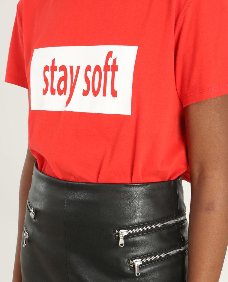 t shirt mit schriftzug rot 403649342n49 pimkie. Black Bedroom Furniture Sets. Home Design Ideas