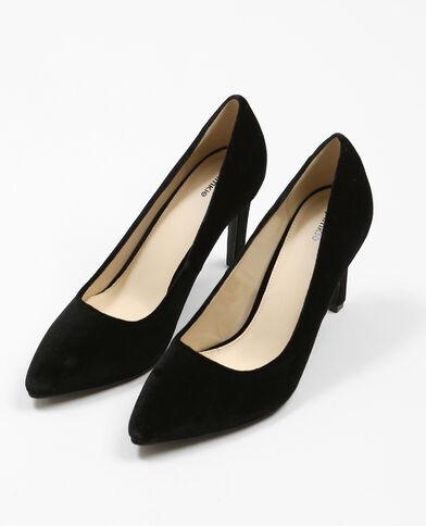 Zapatos de tacón terciopelo negro