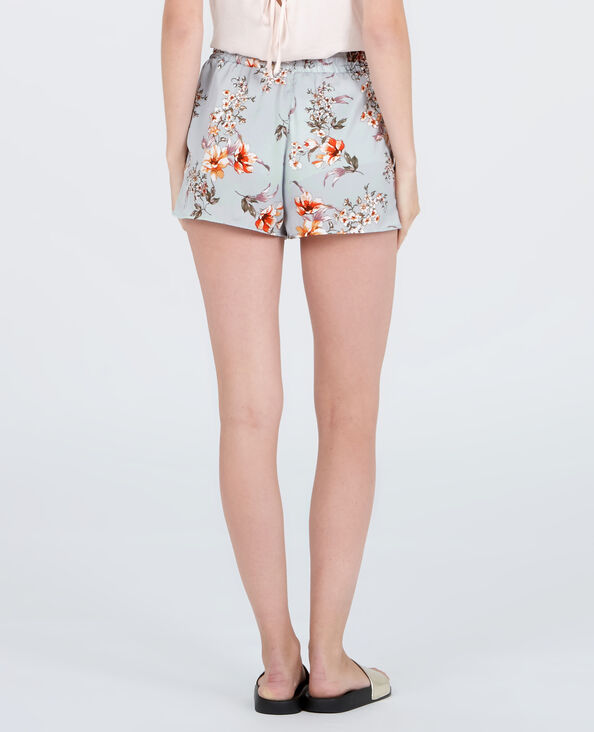 Homewear-Shorts aus Satin Grau