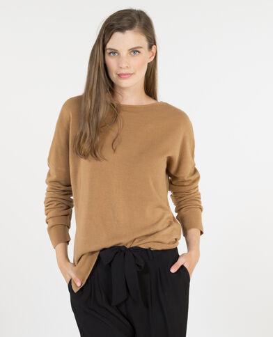 Weicher Pullover Orangebraun