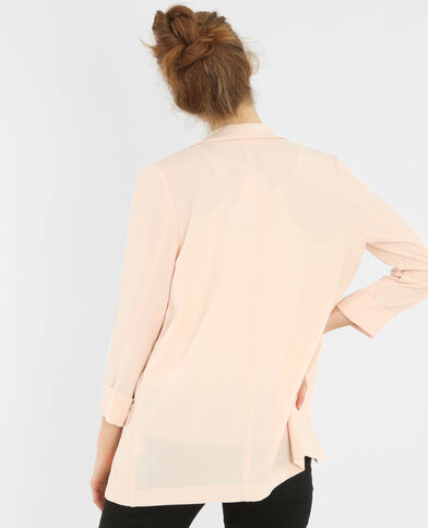 Veste en crêpe rose pastel
