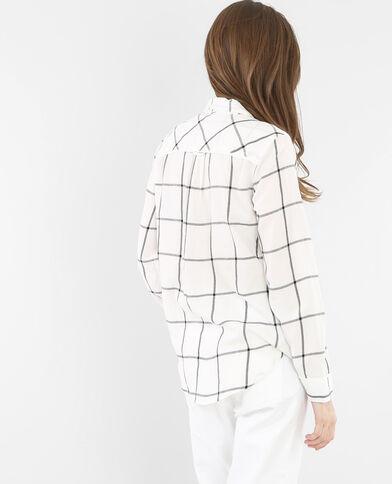 Camicia a quadri bianco sporco