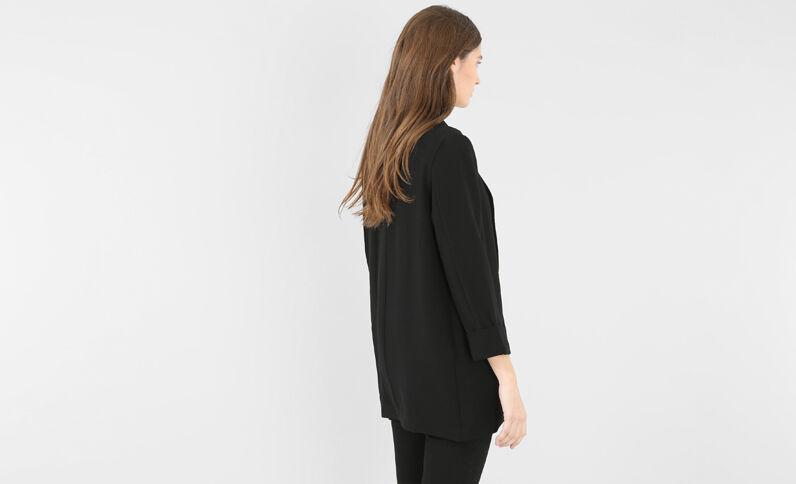 Jacke aus Krepp Schwarz