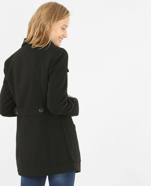 Cappotto abbottonato nero