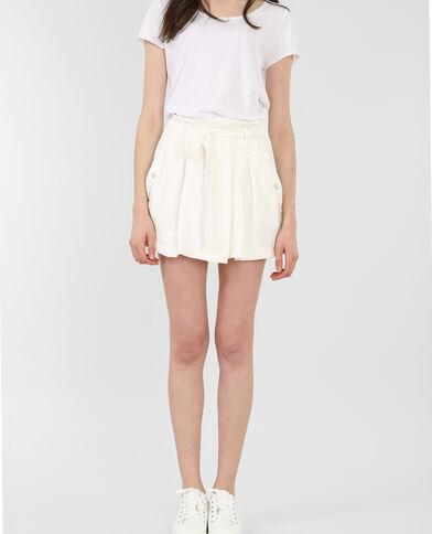 Jupe short blanc cassé