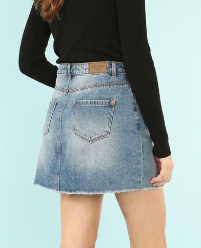 Mini jupe denim bleu