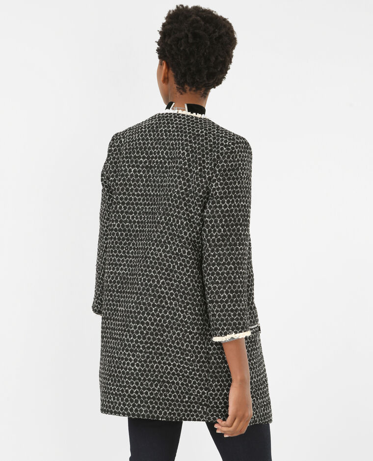 Summercoat aus modischem Wollmischgewebe. Schwarz