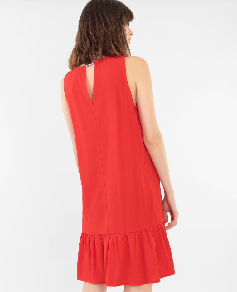 Rüschenkleid Rot