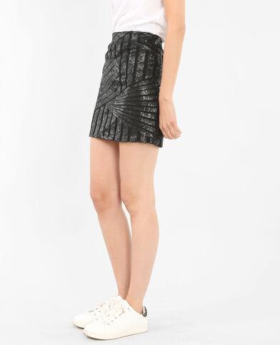 Mini jupe sequin noir
