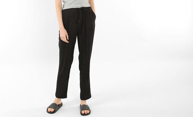 Soepele broek zwart