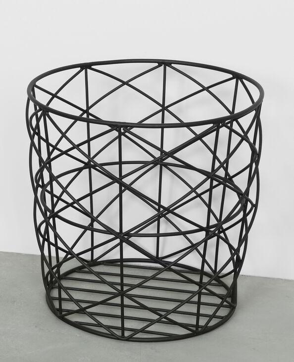 Panier métallique noir
