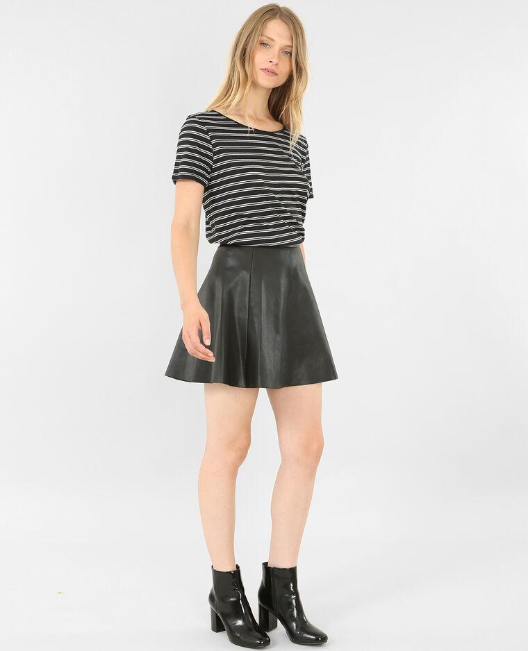 Mini jupe en similicuir noir