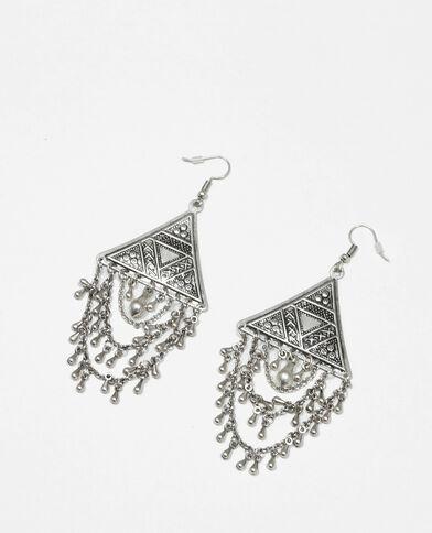 Ohrringe mit Anhängern Silber