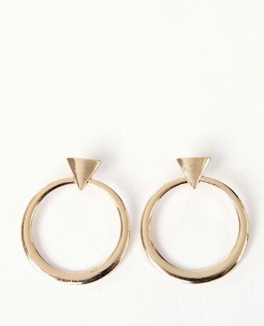 Boucles d'oreilles géométriques doré
