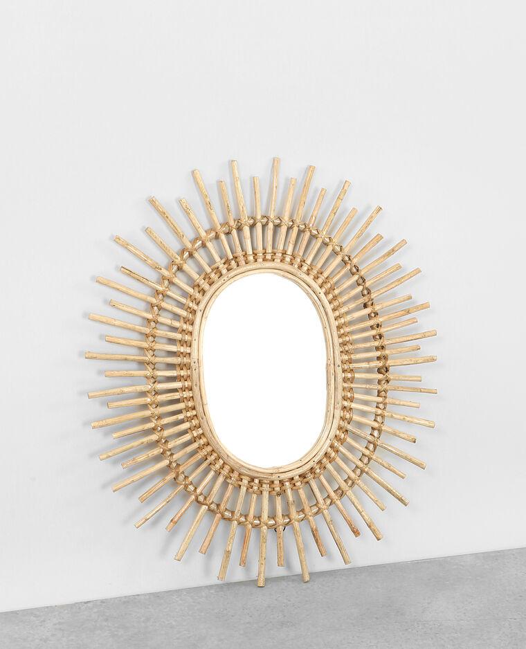 Miroir soleil en rotin 902914742a07 pimkie for Miroir en soleil