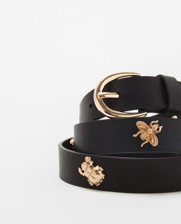 Cintura nera con borchie nero