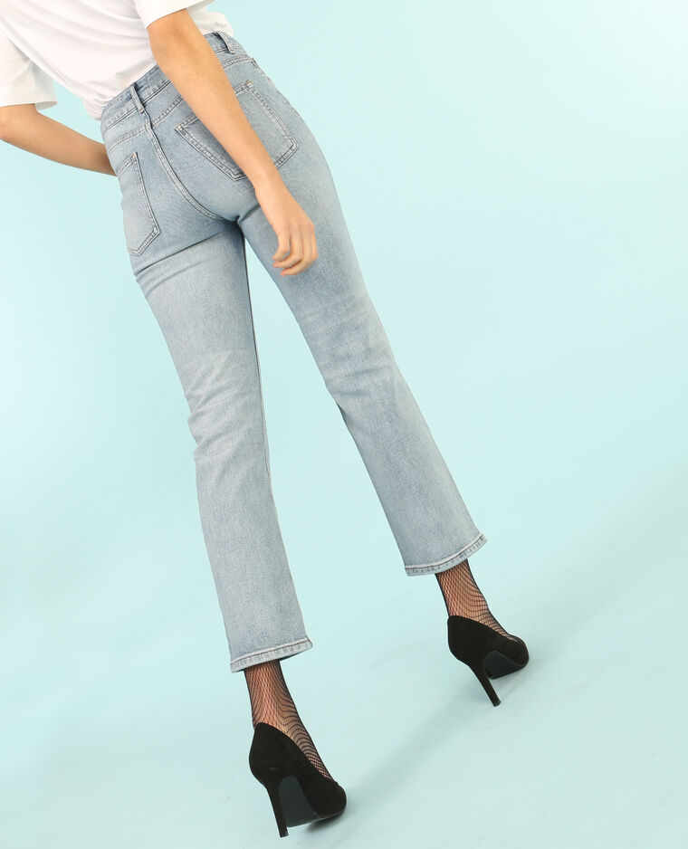 Gerade Jeans mit hoher Taille Blau